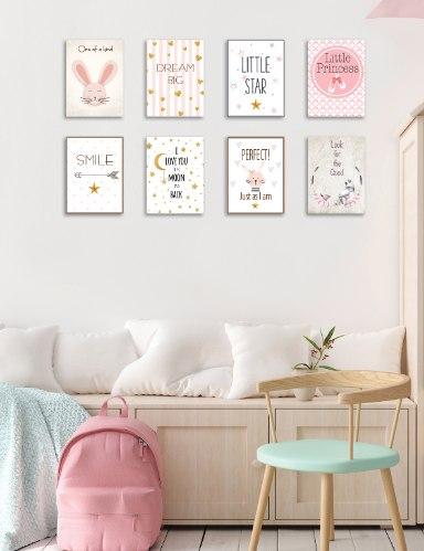 שמיניית תמונות השראה לחדר תינוקת, ילדה או נערה דגם 807