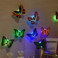 סט 5 מנורות לילה בצורת פרפרים