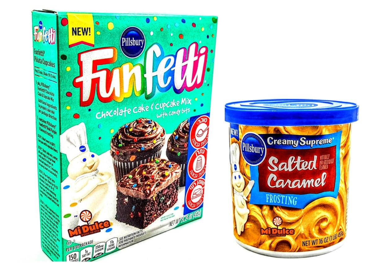 Pillsbury תערובת פאנפטי שוקולד + ציפוי קרמל מלוח