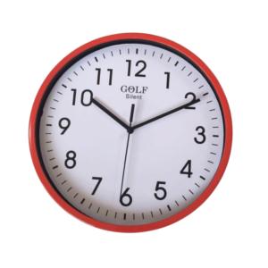 שעון קיר שקט גולף GOLF אדום