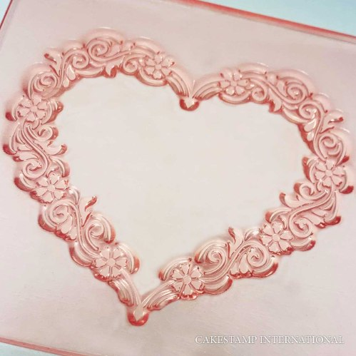 FLORAL HEART Embosser Stamp | Flexible Polymer Stamp