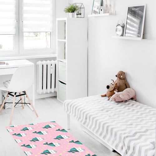 שטיח PVC | דגם חתולים רקע ורוד