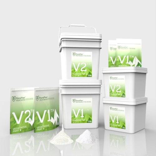 דשן לצמיחה V1 פלורה פלקס שקית 500 גרם floraflex nutrients