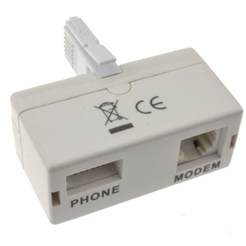 מתאם ADSL טלפון פילטר לקו טלפון רגיל