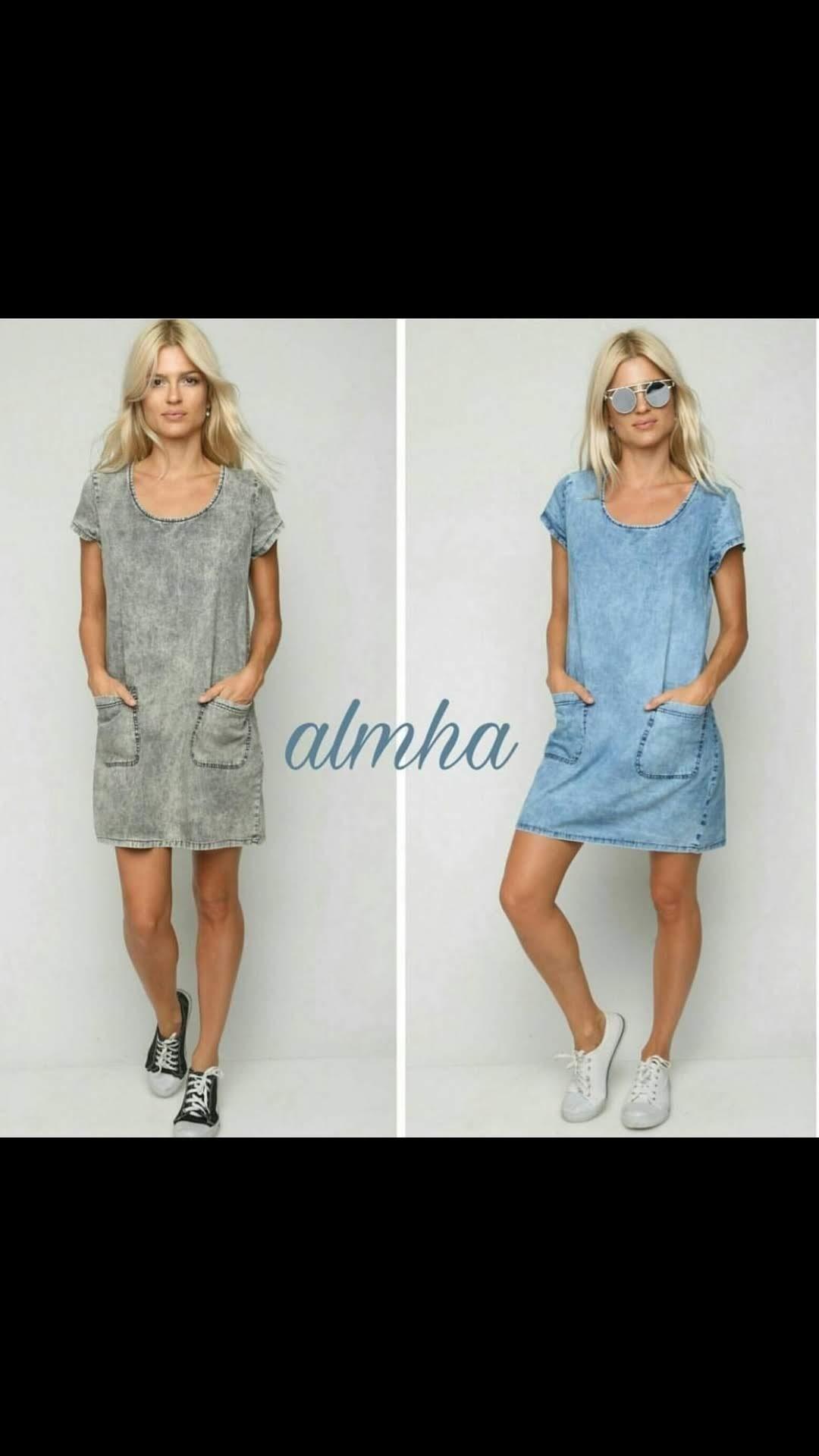 שמלה ג'ינס כיסים ALMHA