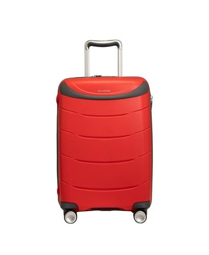 מזוודה עליה למטוס קשיחה מעולה פוליפרופילן 28 RICARDO BEVERLY HILLS אדום