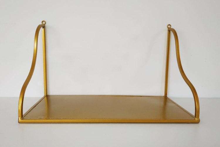 מדף פרזול - דגם אלגנט זהב - דוגמא
