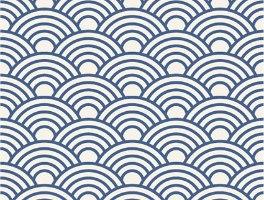 3 יח' טפט דביק מותאם לשידת מגירות HEMNES- גלים כחולים