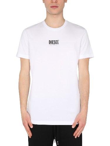צבע לבן- T-SHIRT DIESEL LOGO