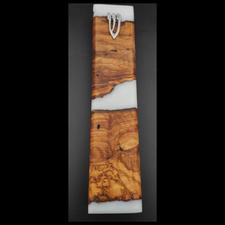 מזוזה עץ בשילוב אפוקסי עבודת יד 3