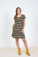 שמלת פליז אפרת מודפס