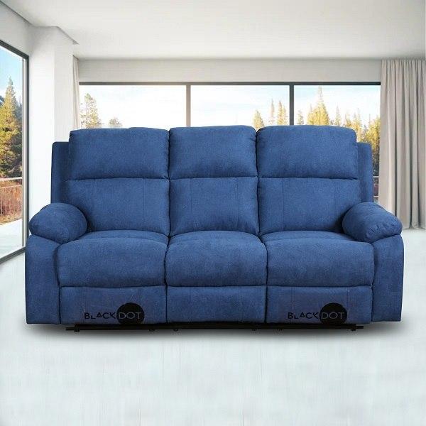 ספה 3 מושבים סיאסטה בד כחול