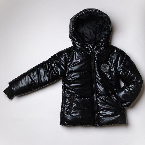 מעיל צבע מטאלי לבנות שחור SB