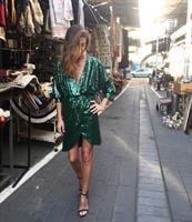 שמלת פייטים סנטנה ירוקה