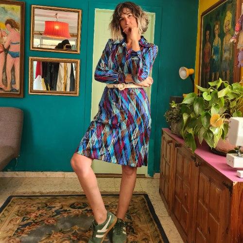 שמלה בהדפס מעולה מידה L/XL