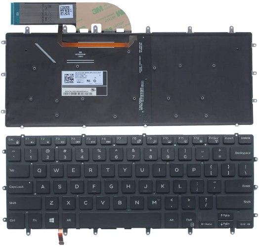 החלפת מקלדת למחשב נייד דל Dell XPS 15 9550 9560 Backlit Keyboard 0GDT9F