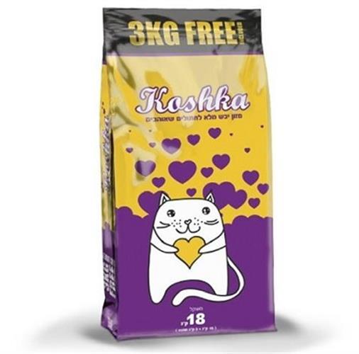 """אוכל לחתולים 18 ק""""ג Koshka"""