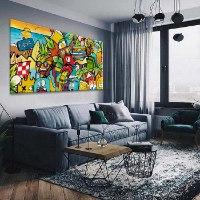 תמונת צבעונית לסלון של האמן כפיר תג'ר