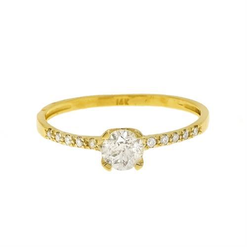 טבעת יהלומים 0.60 קראט בזהב 14 קרט | תעודה גמולוגית IGL