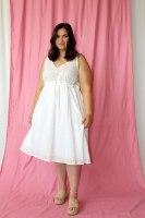 שמלת קארדי לבנה