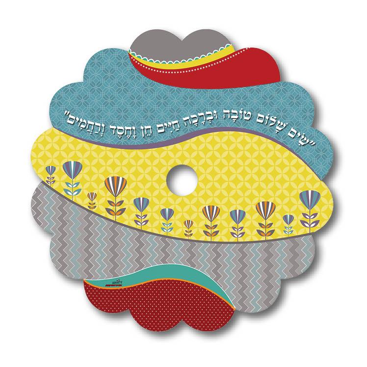 מגנט לעינית הדלת - דגם שים שלום צבעוני - דוגמא