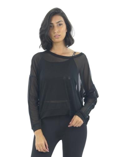 חולצת רשת שחורה