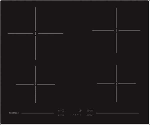 """כיריים ויטרו קרמיות 60 ס""""מ,  שחורות דגם RH64CT1"""