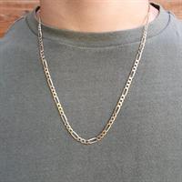 """שרשרת חוליות לגבר זהב 14K דגם פיגרו 3.8 מ""""מ"""