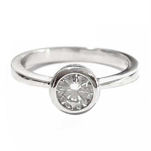 טבעת כסף משובצת זרקון סוליטר RG5601 | תכשיטי כסף | טבעות כסף