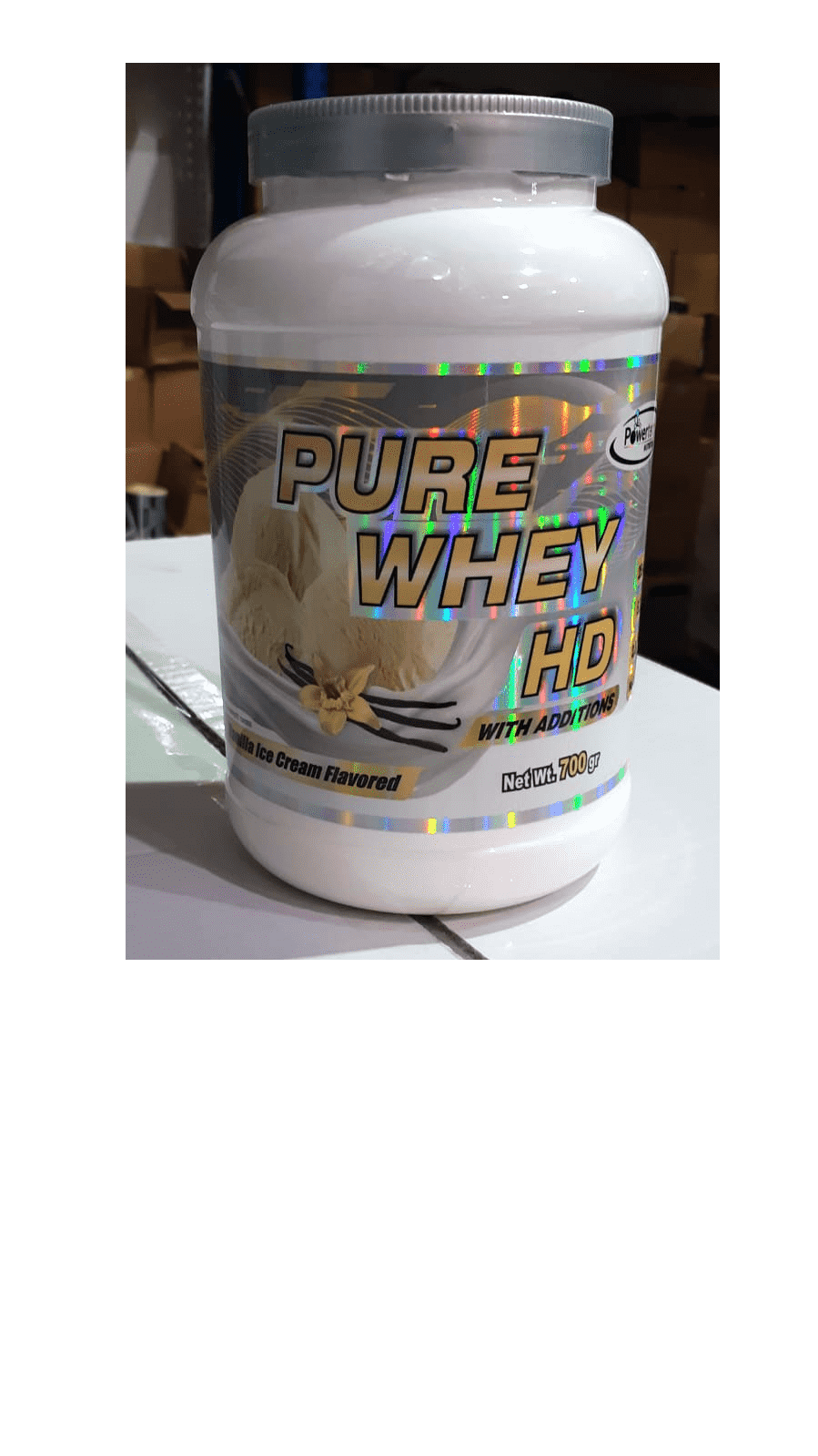 """אבקת חלבון פיור וויי Pure Whey HD כשר בד""""ץ 700 גרם"""