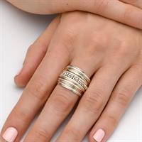 טבעת ספירלי גלייז חרוזים