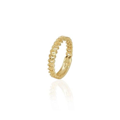 טבעת זהב חוליות צפופות מידה 8-10