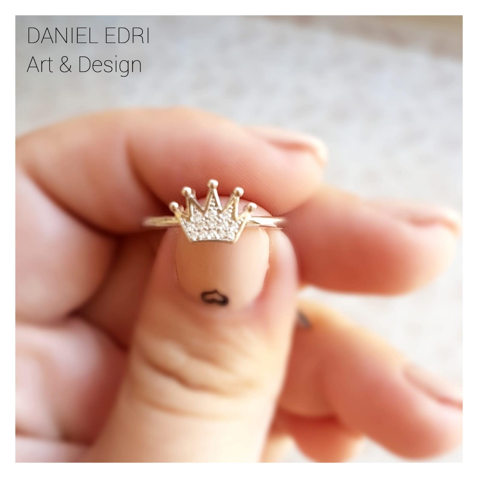 טבעת כתר עדין- כסף
