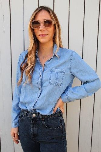 חולצה מכופתרת ג'ינס