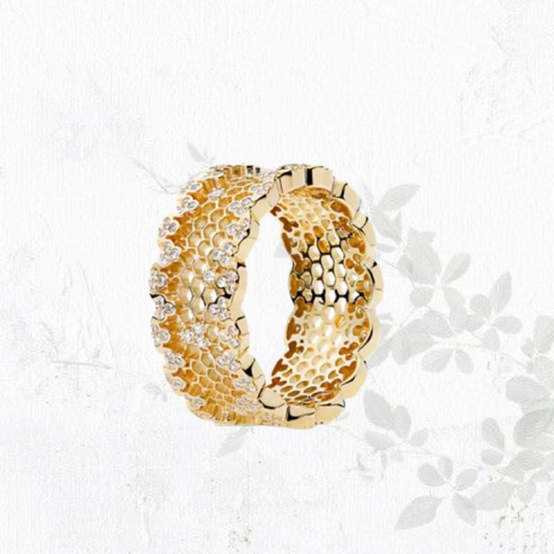 טבעת Roli בציפוי זהב