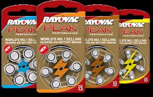 סוללות למכשיר שמיעה Rayovac  אנגליה - מידה 312