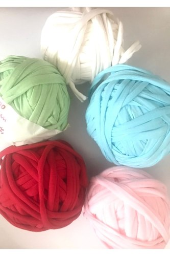 עודפי ייצור של חוטי טריקו פרוסים  במארז צבעי פסטל