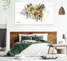 אומנות מודרנית גדולה לחדר שינה