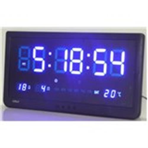 שעון קיר חשמלי גולף כחול GOLF 4825BL