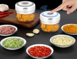 קוצץ מזון חשמלי נטען נייד