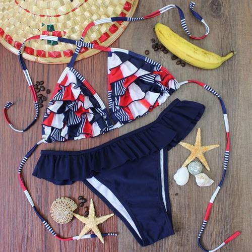 בגד ים ביקיני ברזילאי בעיצוב קייצי לוהט וסקסי דגם 2