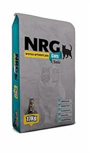 """מזון לחתולים אן אר ג'י  17 ק""""ג NRG"""