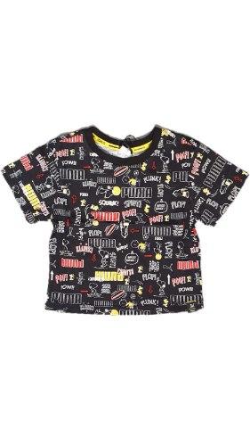 חולצת קרופ PEANUTS שחורה