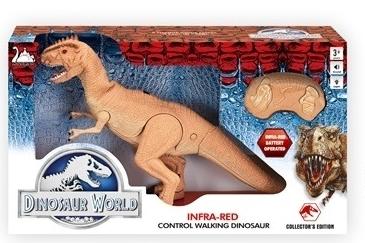 דינוזאור עם שלט אינפרא רד עם קולות וצלילים - חום