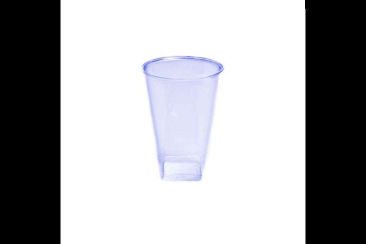 כוס קריסטל מרובעת 20 יח' - כחול