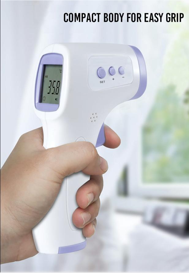מד חום ללא מגע אינפרא-אדום למדידת חום גוף