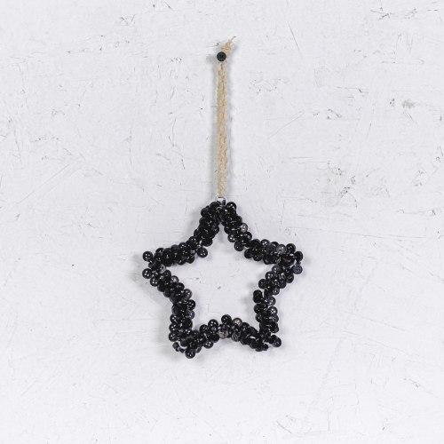 כוכב כפתורים - שחור