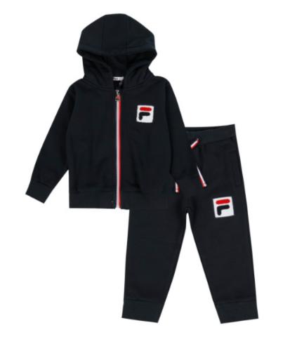 חליפת פוטר שחורה עם ריצרץ FILA - בנים - 6 עד 24 חודשים