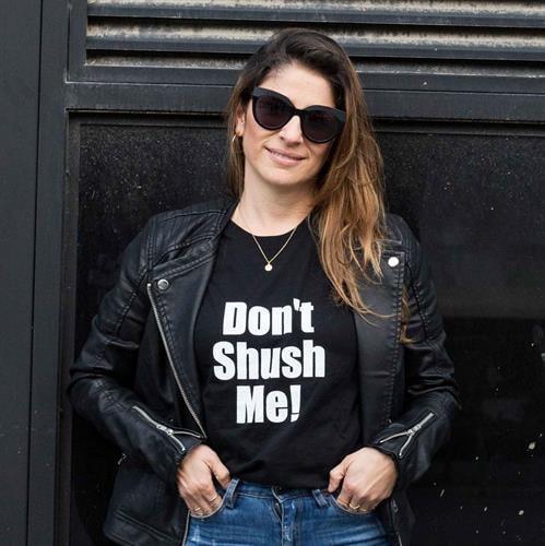 חולצת טי שירט נשים Don't shush me!
