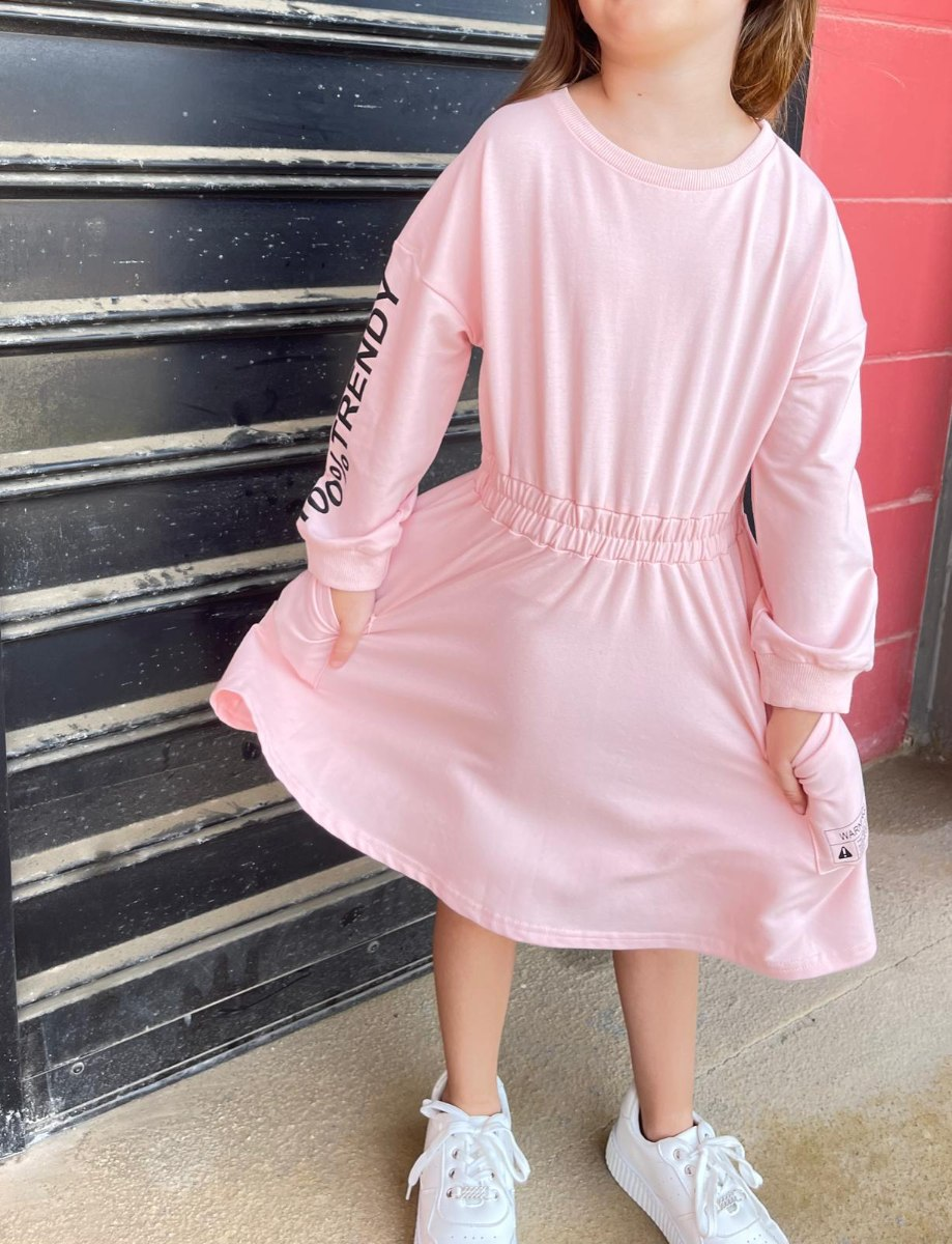 שמלת FT כיסים ורודה